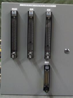 Flowmeters in a panel