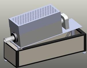 Tilt and rotate tube furnace