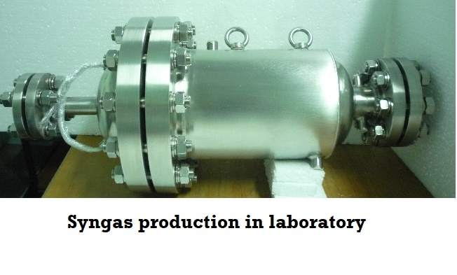 Syngas production in laboratory